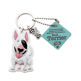 Wags & Whiskers Keyring - Bull Terrier