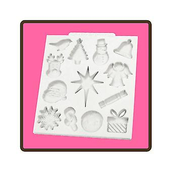 Katy Sue Designs Christmas Embellishments Silicone Mould