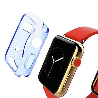 Blue For Apple Watch 1,2,3,4 (44mm,42mm) Slim TPU Protective Case