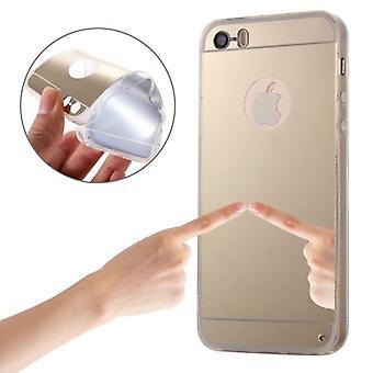 Til iPhone SE (1. generation),5s & 5 Case, Golden Mirrored Cover
