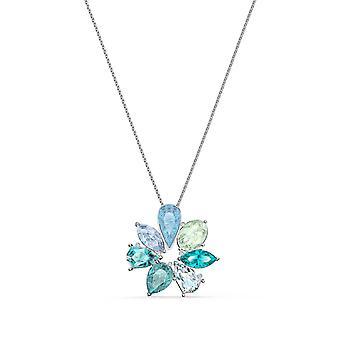 Swarovski halsband 5520492-silver m tal halsband Mix Vit blå sten och gröna kvinnor