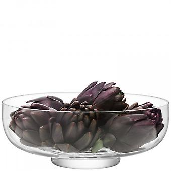 LSA International Serve Arch Salad/Fruit  Bowl - Handmade Glass 30cm