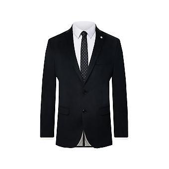 Nytte London Herre sort fløjl jakkesæt jakke Skinny pasform