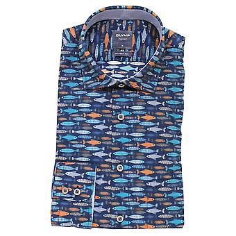 OLYMP Olymp Blue Shirt 4016 54 18
