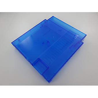 Cartridge shell for nes nintendo compatible game case replacement - clear blue | zedlabz