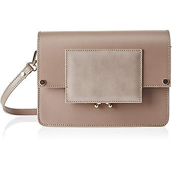 Chicca Bags 1637 Bolso de hombro beige para mujer (Taupe) 26x18x99 cm (ancho x alto x ancho)