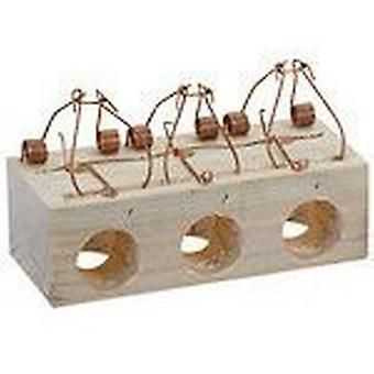 AFT Mousetrap Wood 3 Holes 28 Mm. (Garden , Insect and parasitics)