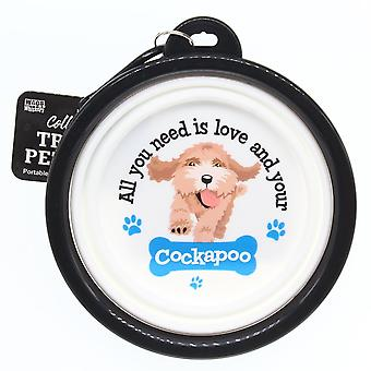 Wags & Whiskers Travel Pet Bowl - Cockapoo