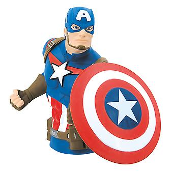 Coin Bank - Marvel - Avengers - Captain America Bust Bank New 68752