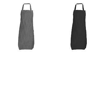 Dennys Adults Unisex Denim Bib Apron (Pack of 2)
