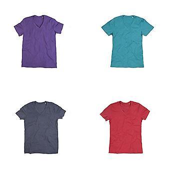 T-Shirt en V de Melange de Luke Stedman Mens