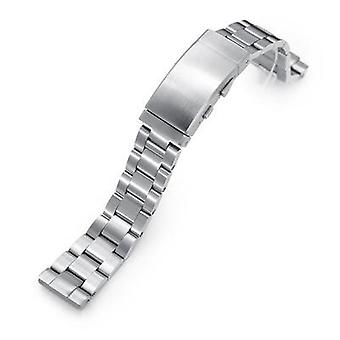 Strapcode watch bracelet 20mm super 3d oyster 316l stainless steel watch bracelet for seiko sbdc053 aka modern 62mas, wetsuit ratchet buckle, brushed