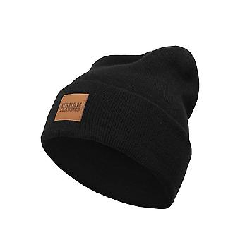 Urban Classics Leather Patch Long Beanie