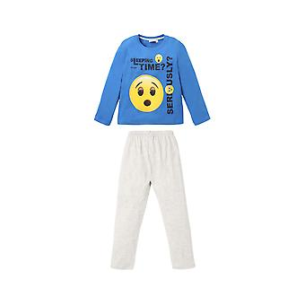 Emoji boys pyjama set long sleeve