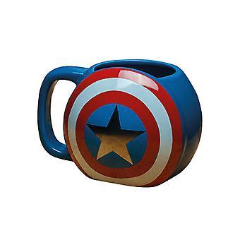 Marvel Avengers Captain America Shaped Mug Coffee Tea Drinks Cup