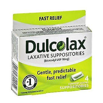 Dulcolax laxative suppositories, 4 ea