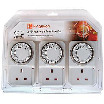 Zestaw nasadek Plug-In zegar 24-godzinny Kingavon Bb-Ts210