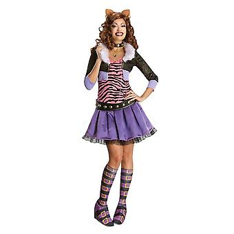 Monster High Womens/Ladies Deluxe Clawdeen Wolf Costume