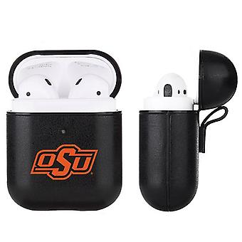 Oklahoma State Cowboys NCAA Fan Brander Black Leather AirPod Case