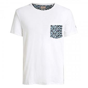 Guess White Logo Pocket Crew Neck T-Shirt M0GI68K6XN0
