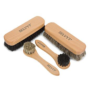 Selvyt Premium Horsehair Buffing and Applicator Brush set