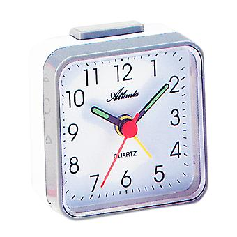 Atlanta 059/4 Alarm clock quartz analog grey white square