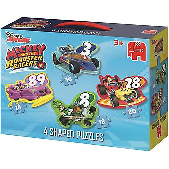 Jumbo Mickey And The Raodster Racer 4 Jigsaw Puzzle Collection