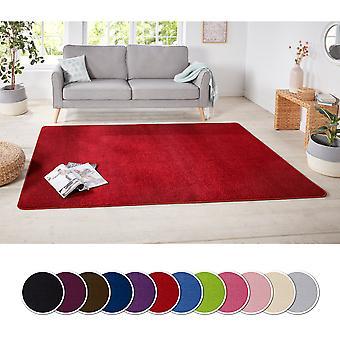 Concevoir de courts Fawaz tapis unicolore uni |  Couleurs: Rouge vert rose crème bleu pourpre brun ou gris
