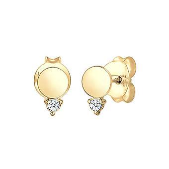 DILOVE Women's pin earrings gold_yellow - 0305872118