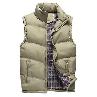 Cloudstyle Men's Down Vest Solid Thickened Casual Sleeveless Jacket