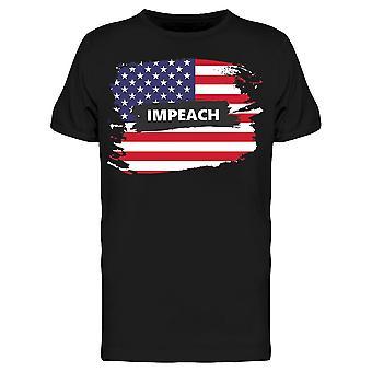 Impeach Inside The Usa Flag Tee Men's -Bild av Shutterstock Men's T-shirt