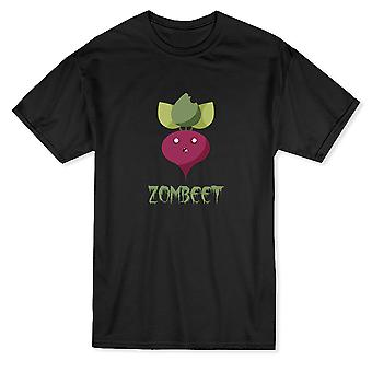 "Cute Zombie Beet Graphic ""Zombeet"" Funny Graphic Quote Men's T-shirt"