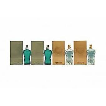 Jean Paul Gaultier Le mandlige miniature gave sæt 2 x 7ml Le mandlige EDT + 2 x 7ml Le mandlig intens EDP