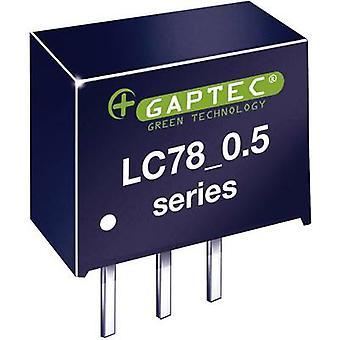 Gaptec LC78_05-0.5 DC/DC converter (print) 12 V DC 5 V DC 500 mA 2.5 W No. of outputs: 1 x