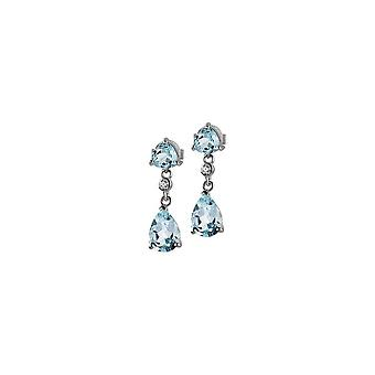 Jacques Lemans - Sterling Silver Studs with Sky Blue Topaz - SE-O108B