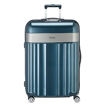 TITAN Spotlight Flash Trolley L, 4 rollos, 76 cm, 102 L, azul