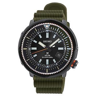Seiko Watches Sne547p1 Prospex Street Series Green Silicone Solar Diver's Men's Watch