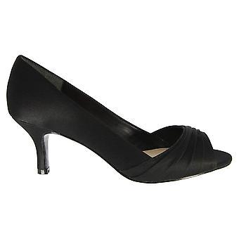 Nina Womens Carolyn Leather Peep Toe SlingBack Classic Pumps