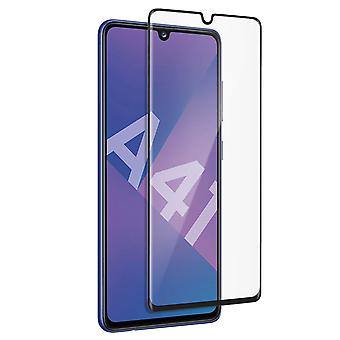 Galaxy A41 Screen Protector 9H Tempered Glass 9H Uncurved Akashi Contour Black