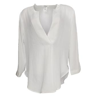 Masseys Women's Top Basic Layering Long Sleeve Blouse White