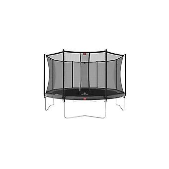 berg favorit regular 380 12ft trampoline grey + safety net comfort trampoline