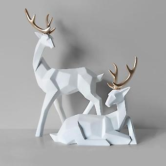 3d Nordic Style Solid Geometry Lucky Deer Resin Ornament
