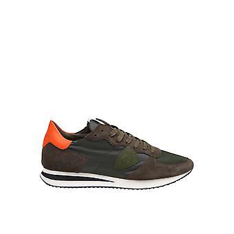 Philippe Modelo Tzluwb14 Men's Green Fabric Sneakers