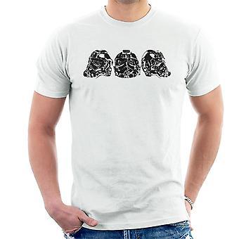 Original Stormtrooper Imperial TIE Pilot Helmet Trio Men's T-Shirt