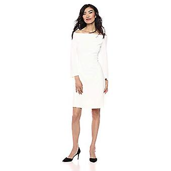 Brand - Lark & Ro Women's Long Sleeve Off the Shoulder Fit and Flare D...