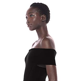 Marke - Lark & Ro Frauen's Off the Shoulder Mantel Pullover Kleid, Schwarz...