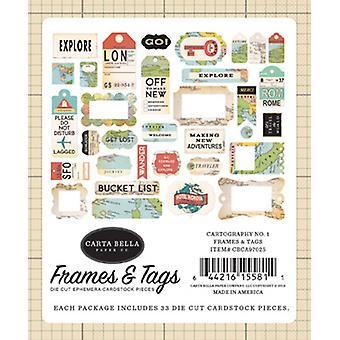 Carta Bella Kartografi No.1 Rammer & Tags