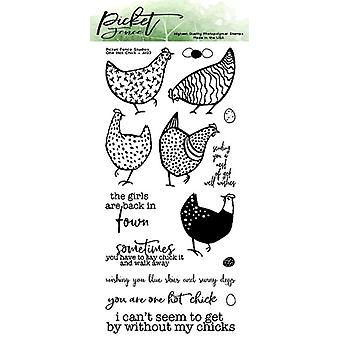 Picket Fence Studios One Hot Chick Clear Stamps