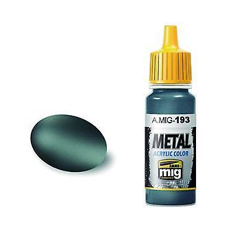 Ammo by Mig Acrylic Metallic Paint - A.MIG-0193 Bluish Titanium (17ml)