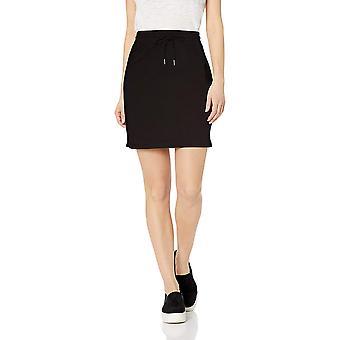 Daily Ritual Women's Terry Cotton en Modal Sweatshirt Skirt, Zwart, Medium